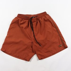 pRana Mens Medium Lined Hiking Yoga Shorts Orange